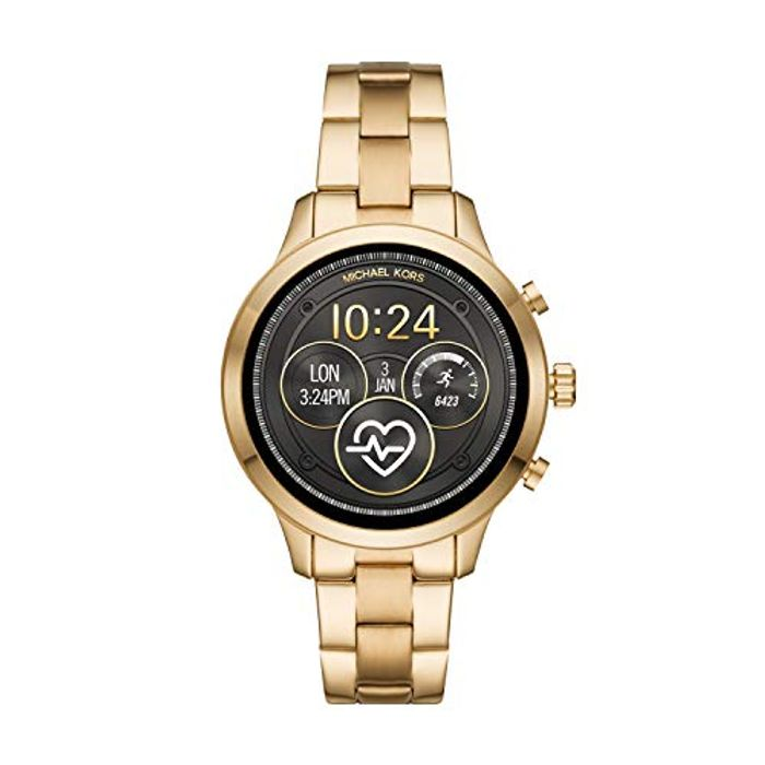 *SAVE over £200* Michael Kors Womens Smartwatch with Stainless Steel Strap