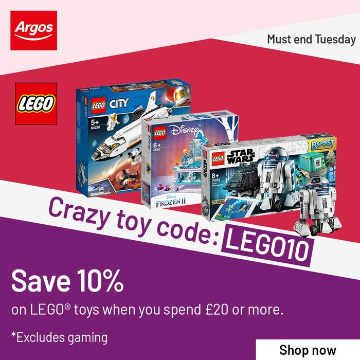 Save 10% on LEGO When You Spend £20 At Argos - Works On Clearance!