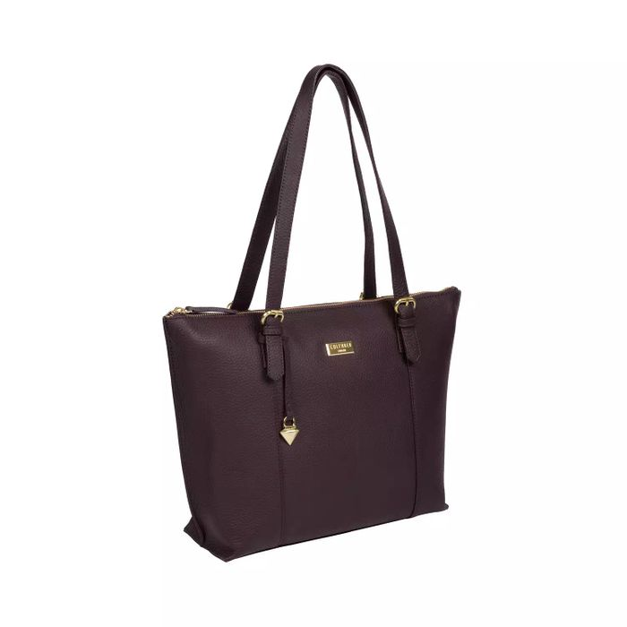Cheap Cultured London-Fig 'Pippa' Leather Tote Bag On Sale From £99 to £38