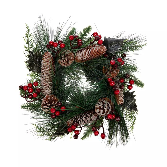 Green Faux Red Berry/Acorn Wreath - HALF PRICE