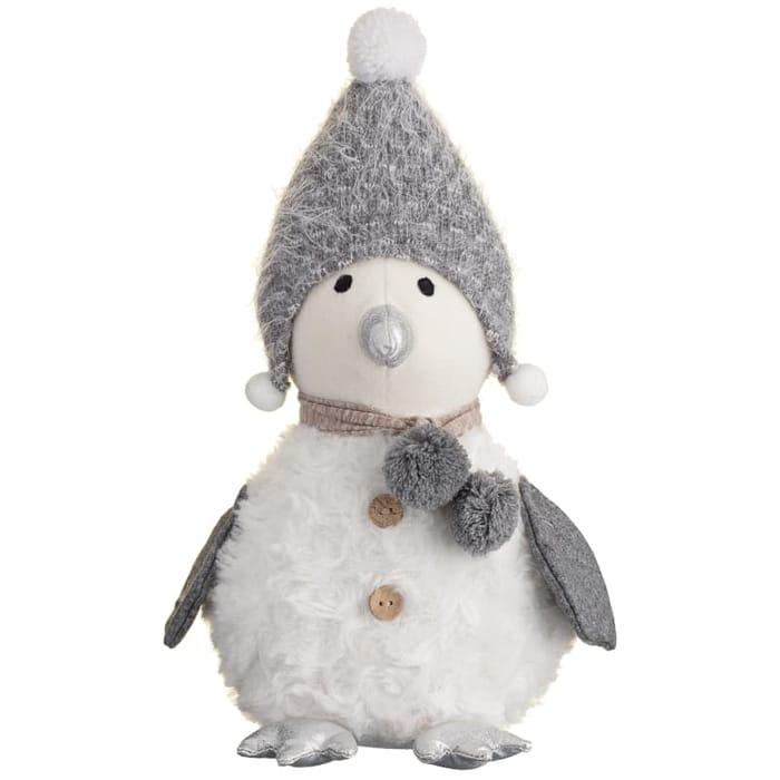 Plush Penguin Knitted Hat Ornament - White