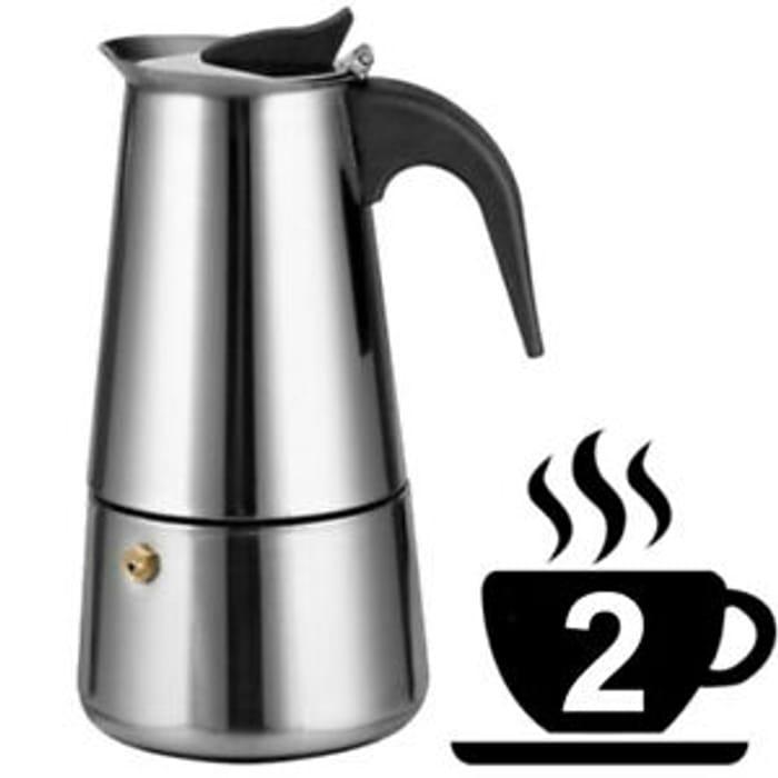 Best Price! Espresso Percolator Coffee Stovetop Maker Mocha Pot Electric Stove