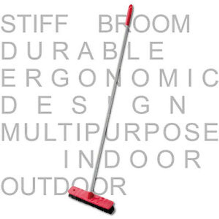 Kleaner Sweeping Brush Head Stiff Indoor Outdoor Broom Handle Yard Sweeper 1m