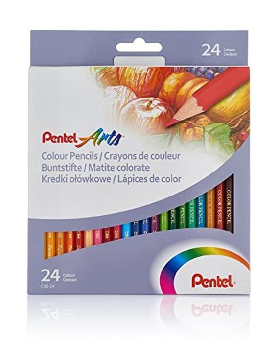 Pentel Colour Pencils (Set of 24)