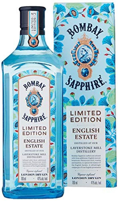Best Price! Bombay Sapphire English Estate Limited Edition Gin, 70cl Only £18