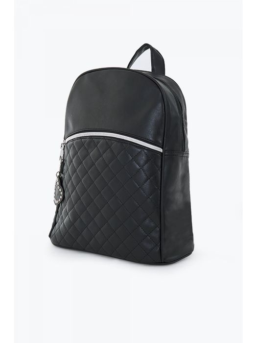 Black Heart Charm Quilted Backpack HALF PRICE