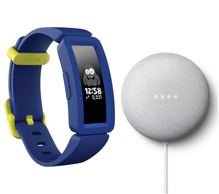 Cheap FITBIT Ace 2 Kid's Fitness Tracker & Nest Mini Bundle - Save £34!