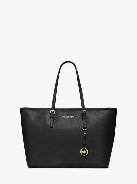 MICHAEL KORS Jet Set Medium Saffiano Leather Top-Zip Tote Bag