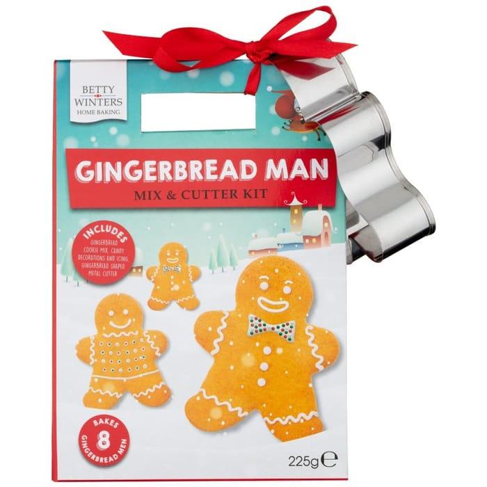 Gingerbread Man Mix & Cutter Kit