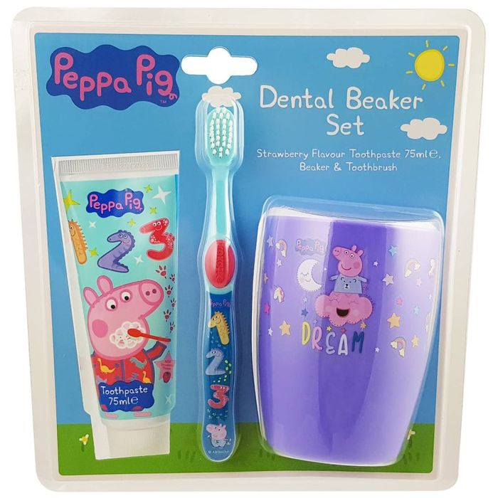 Peppa Pig Dental Beaker Set.