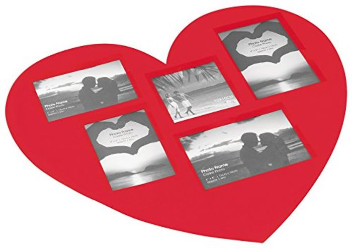 Place MAT Photos Heart 45X41 Souvenirs Rouge, RED - Almost HALF PRICE!