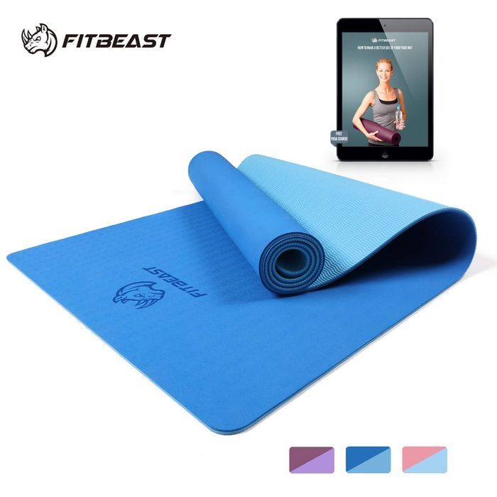 50% off FitBeast Yoga Mat, 6mm Thick Non-Slip