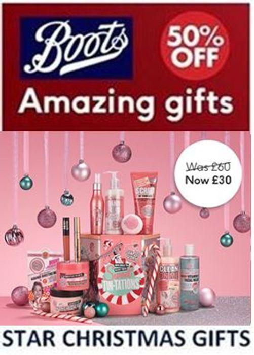 This Week's BOOTS STAR CHRISTMAS GIFTS - up to 50% Off