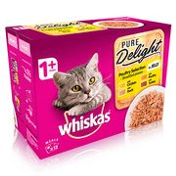 Free (With Cashback) Whiskas Pure Delight 12 X 85g