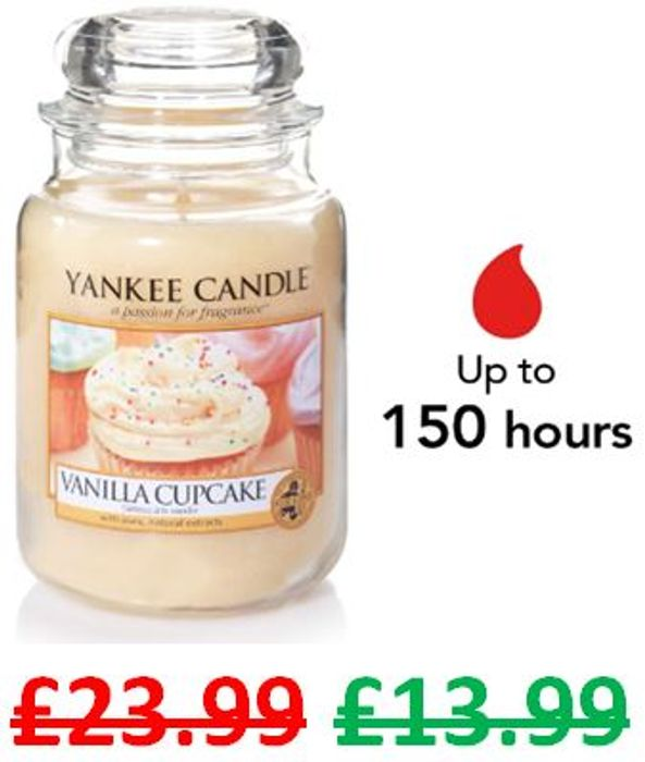 £10 off at AMAZON - Yankee Candle Large Jar - VANILLA CUPCAKE