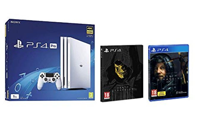 Sony Playstation 4 Pro 1TB White (PS4) + Death Stranding Standard Edition