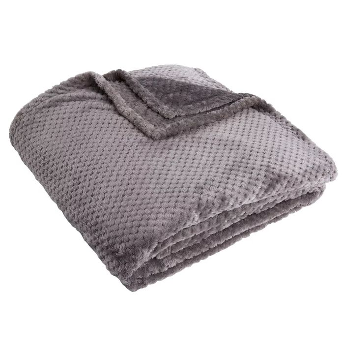 *HALF PRICE* Wilko Charcoal Waffle Throw 200 X 240cm (Other Colours Available)