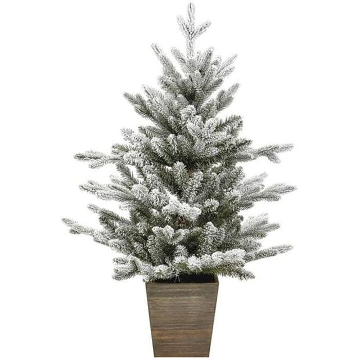 House of Fraser Flocked Balsam Fir Tree in Pot - HALF PRICE!