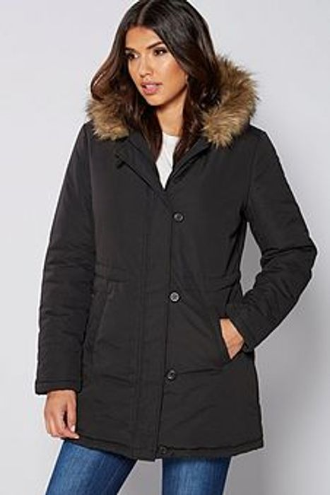 Womens Padded Coat (Black + Teal Also Available) - £16.99 Delivered at Ace