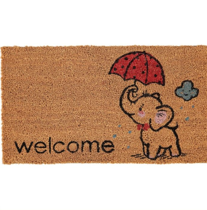 Brown Elephant Coir Doormat 42x70cm - Better Than HALF PRICE!