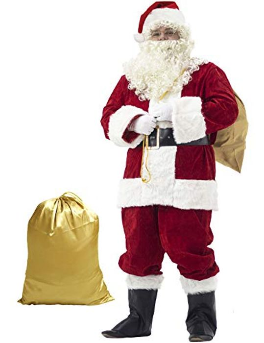 Ahititi Santa Suit Adult Costume 10 piece(Size Small)