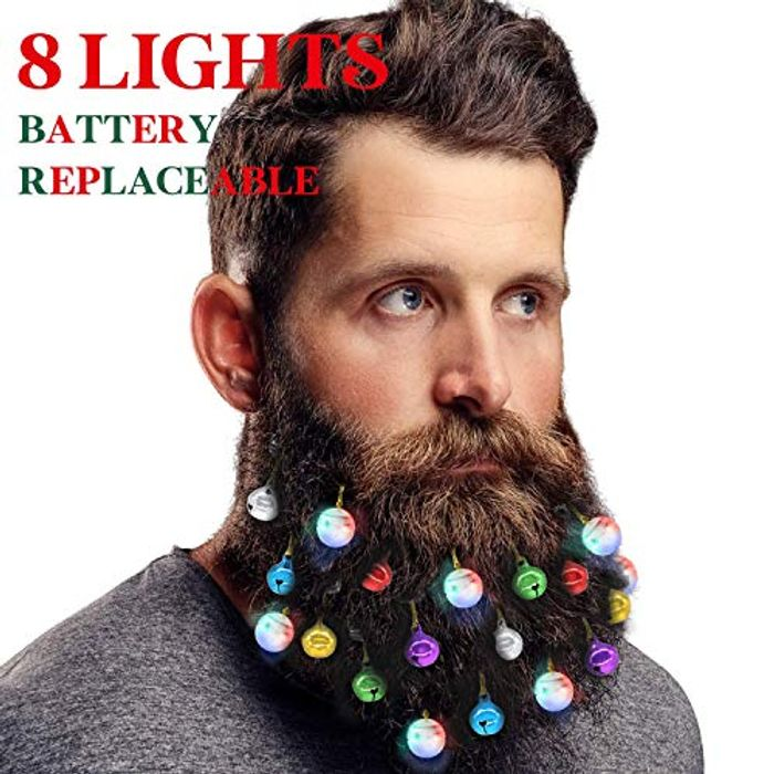 Half Price-8 Light XMAS Beard Ornaments