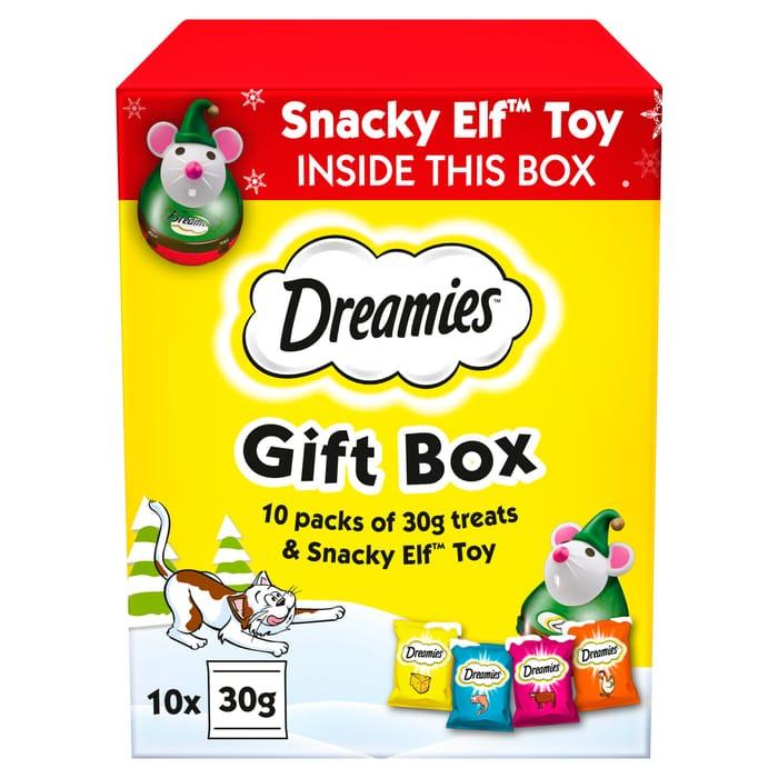 Dreamies Christmas Gift Box Cat Food Treats - HALF PRICE
