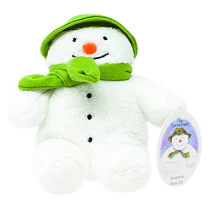 Rainbow Designs Snowman Bean Toy for Newborn 15cm (White)