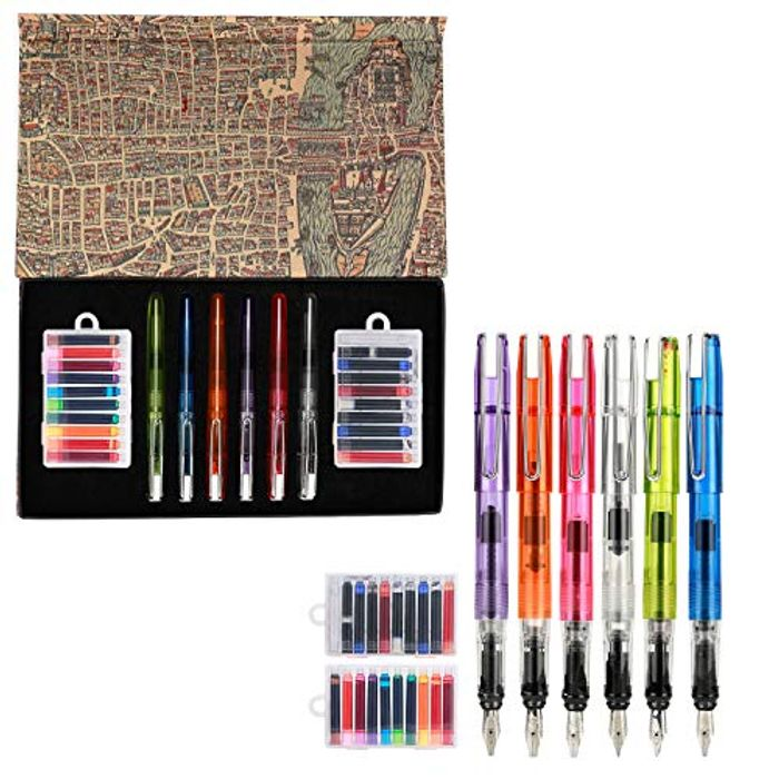 Calligraphy Pen Set 26 Pieces Includes: 6x Calligraphy Pen, 20x Ink Cartridges