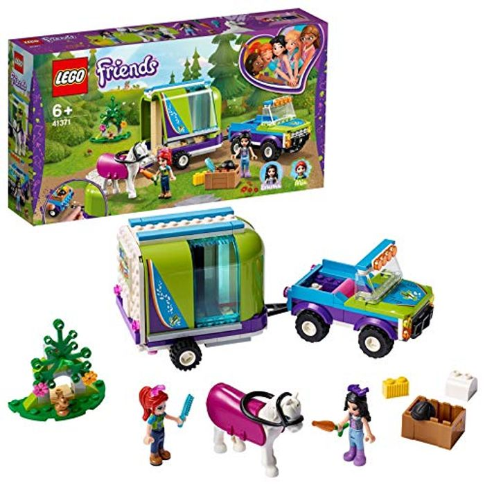 LEGO 41371 Friends Mias Horse Trailer Toy, Stable Extension Set, 4 X 4 Buggy