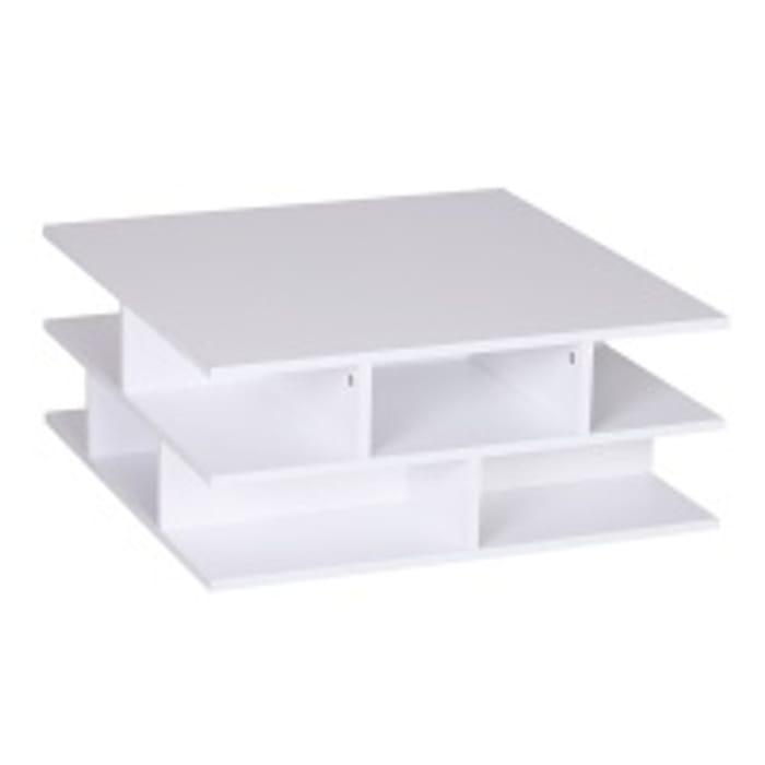 HOMCOM Coffee Table 12 Cubes Square Storage, 70W X 70D X 29Hcm-White