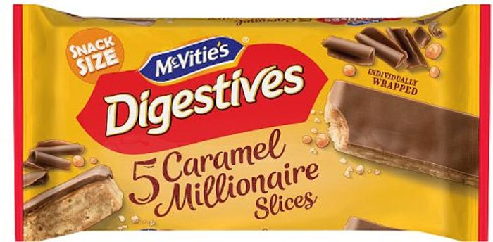 McVitie's Digestives Caramel Slices 5 Pack