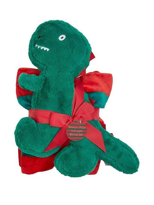 Dino Blanket and Push Pillow Giftset