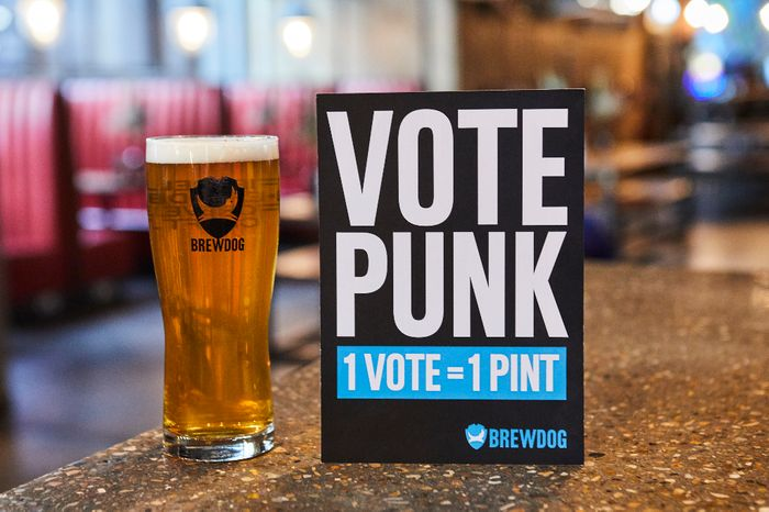 Free Pint of Punk IPA on Election Day at BrewDog Bars