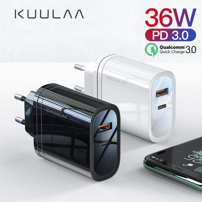 KUULAA 36W USB Charger Quick Charge at AliExpress