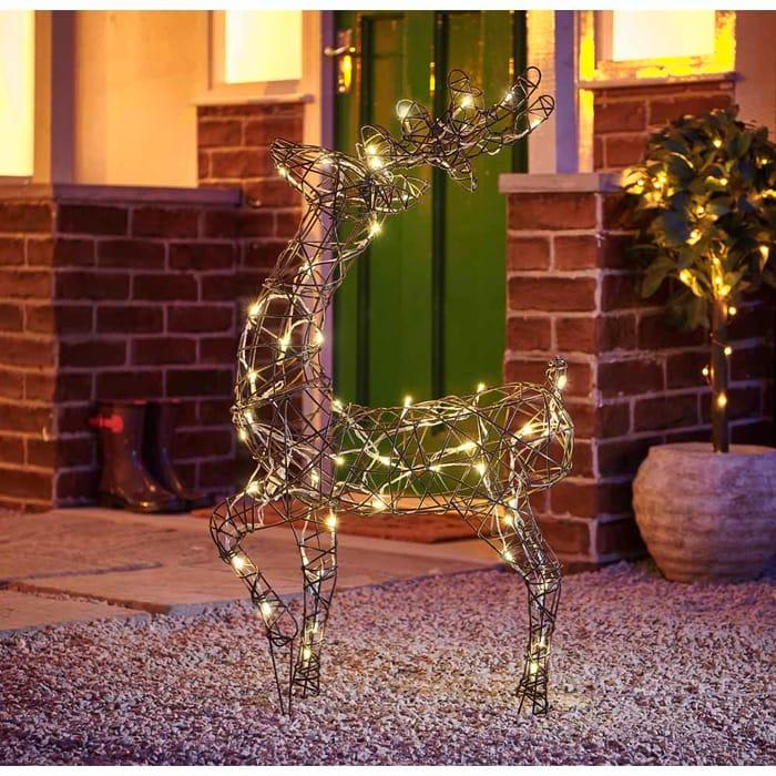 Bargain! Wilko Large Rattan Reindeer Christmas Light at Wilko