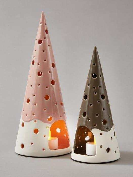 Set of 2 Christmas Tree Tealight Holders - Save £10!