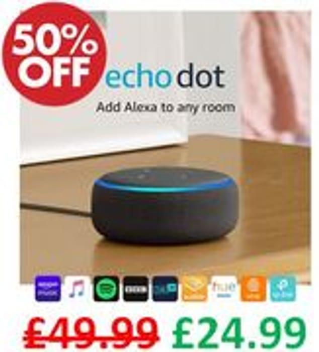 Amazon Echo Dot (3rd Gen) HALF PRICE