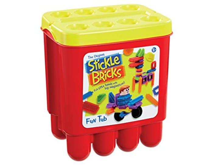 Stickle Bricks TCK07000 Hasbro Stick Fun Tub, Multi-Color - Save £4.79!