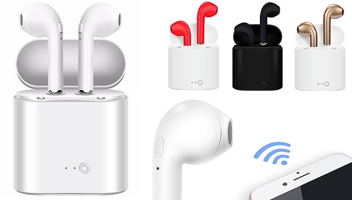50% off Wireless Bluetooth Earbuds with Charging Case - 5 Colours