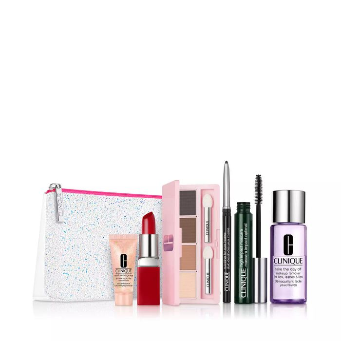 Clinique Merry and Bright Makeup and Skincare Gift Set Only £23.7