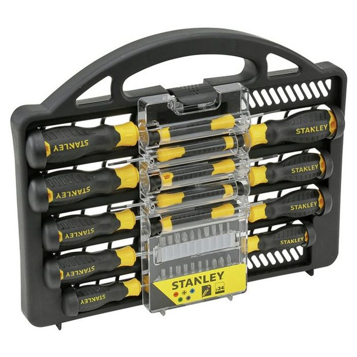 Stanley 34 Piece Screwdriver Set - Save £5!