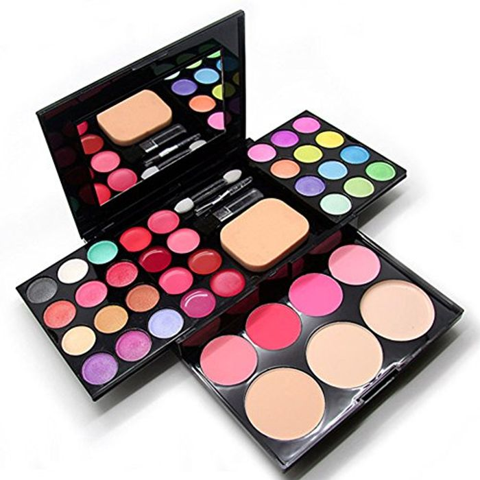 CHEAP! CHIC*MALL Pro Warm Colors Matte Shimmer Eyeshadow Palette Makeup Kit