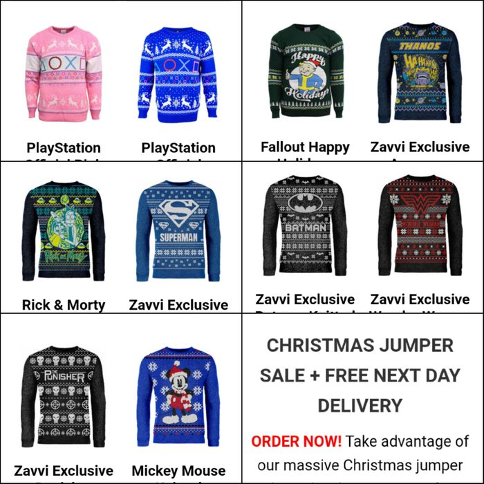 Christmas Jumper Sale + Free next Day Delivery