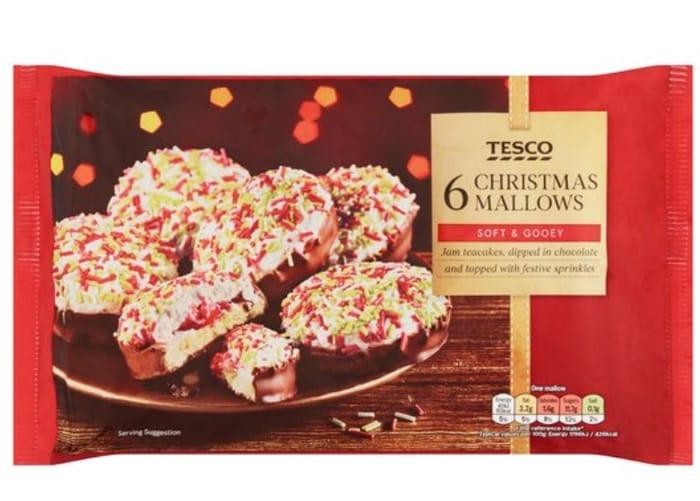 Tesco 6 Christmas Mallows 145G *ONLY £1