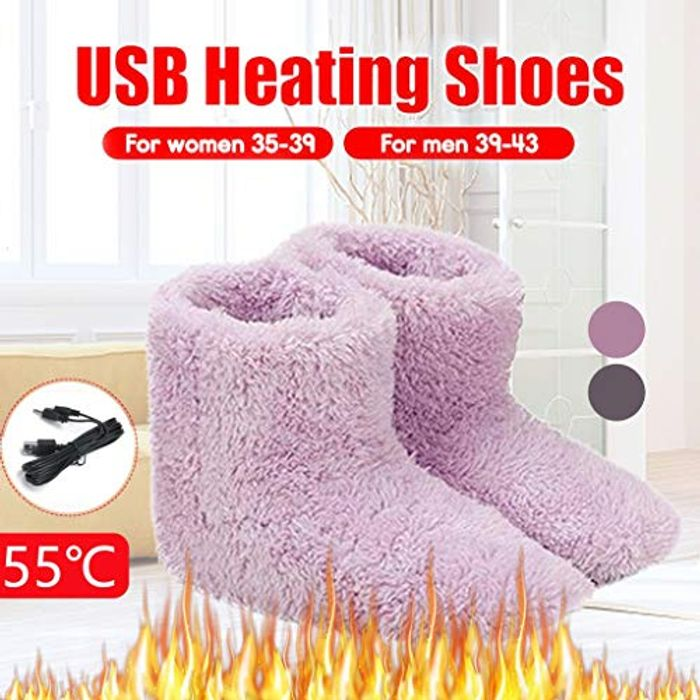 1 Pair USB Electric Heating Slippers - Free Delivery