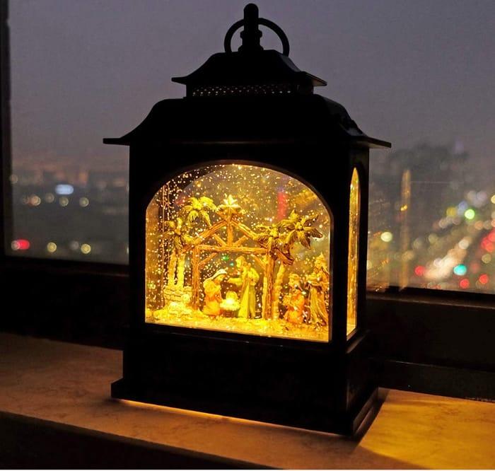 Musical Snow Globe Nativity Lantern *Had To Edit As Listing Has Changed!