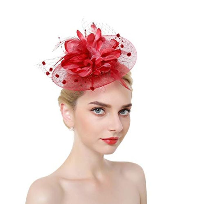 Elegant Mesh Net Flower Feather Fascinator with 60% Discount - Great buy!