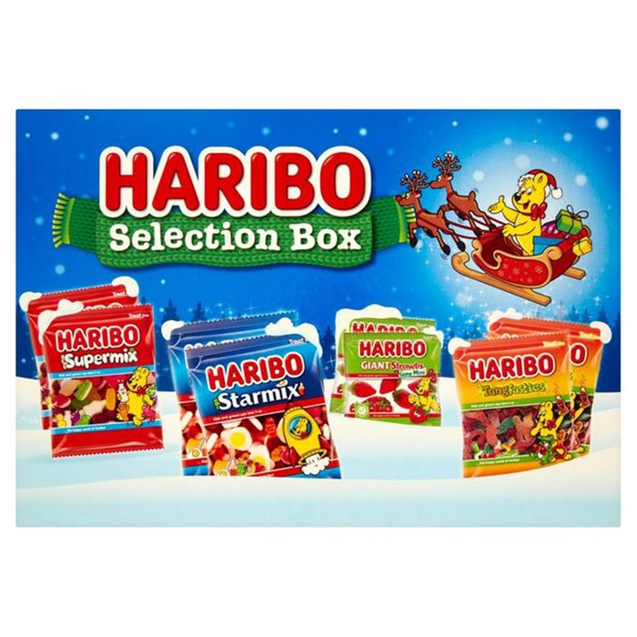 Haribo Selection Box - Starmix/Tangfastics/Supermix/Giant Strawberries