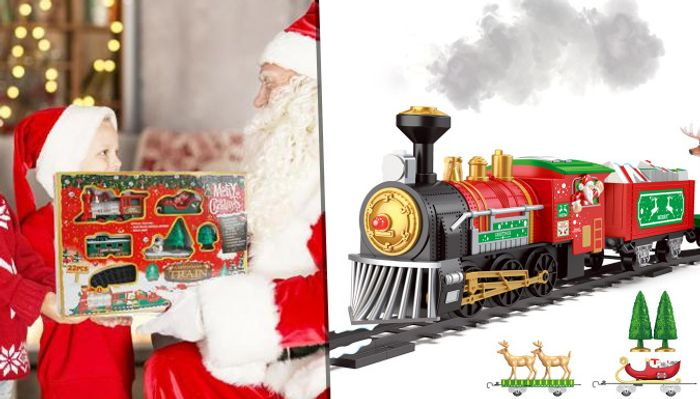 Best Price! Electric Christmas Train with Lights & Music